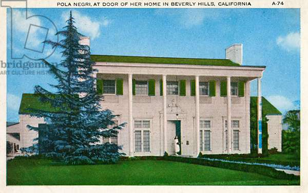 Residence of Pola Negri, Beverly Hills, California, USA