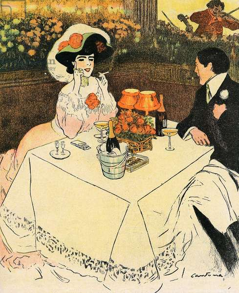 TWO AT END OF MEAL 1907