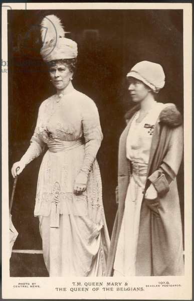 Queen Mary of Teck and Elisabeth of Belgium