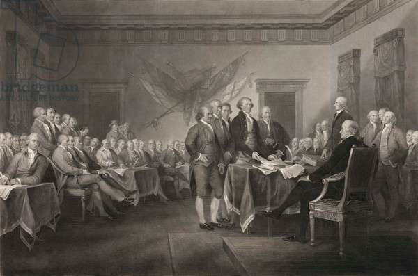Declaration of Independence, July 4th, 1776