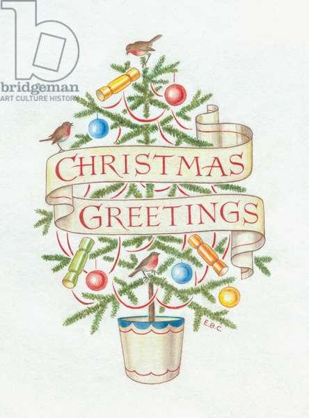 Christmas Greetings on banner
