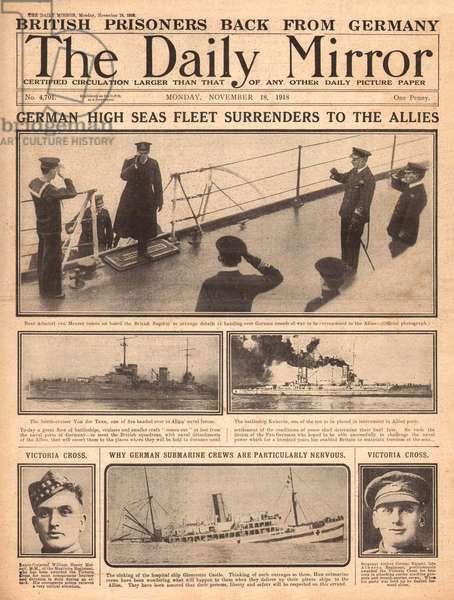 German Navy surrenders to Allies, WW1