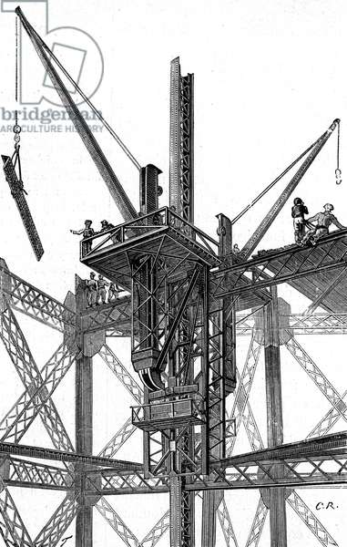 Paris, France - Tour Eiffel, Construction.