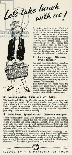 Advert for the Ministry of Food 1945