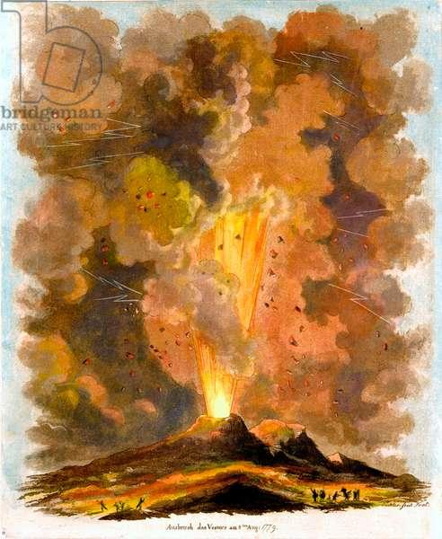 Mount Vesuvius volcano 1779 Eruption
