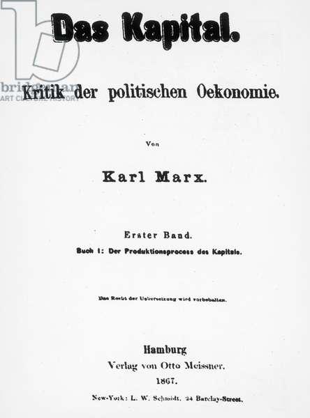 "Karl Marx ""Le Capital"""