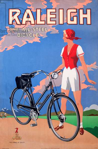 Poster, Raleigh, the all steel bicycle