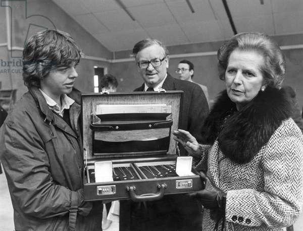 Prime Minister Margaret Thatcher - Admiring Cornish Silver