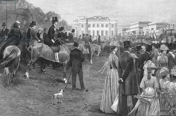 Fashionable people in Hyde Park, Central London