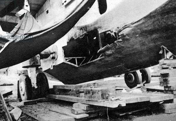 Corsair flying boat damage