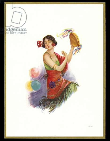 Chocolate box design, lady in flamenco costume
