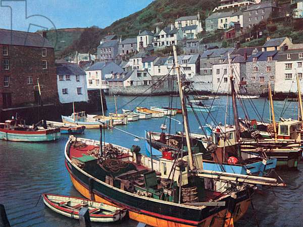 Boats at Polperro, Cornwall