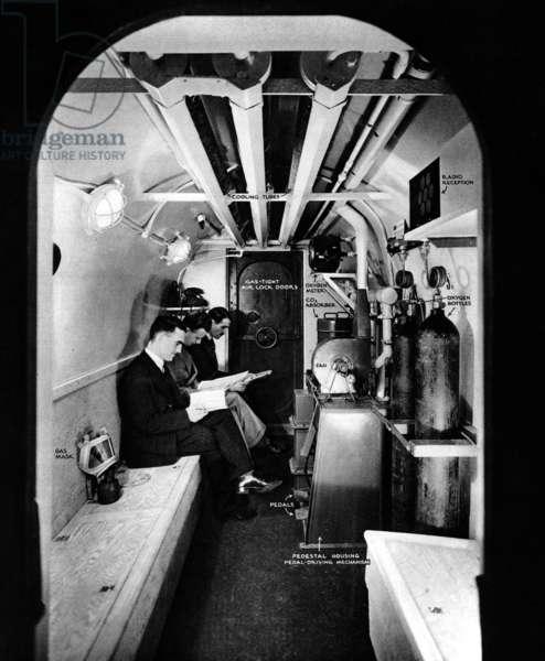 Underground Gas Shelter, London, 1936.