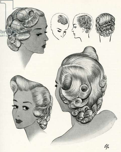 Trafalgar hairstyle 1940s