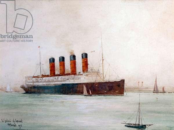The Lusitania off Ergemont Ð ocean liner