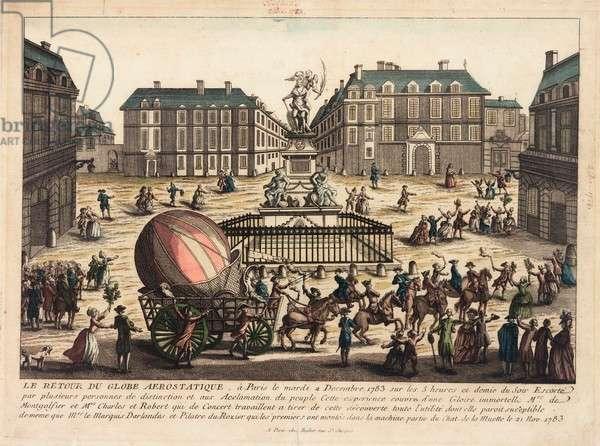 Return of a balloon, Paris