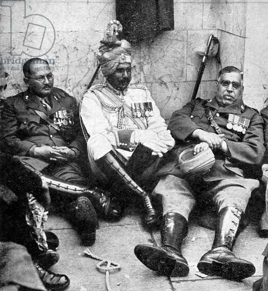 Indian officers resting after the 1937 Coronation