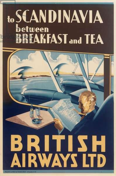 Poster, British Airways to Scandinavia
