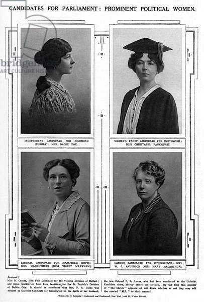 Women candidates for parliament, 1919