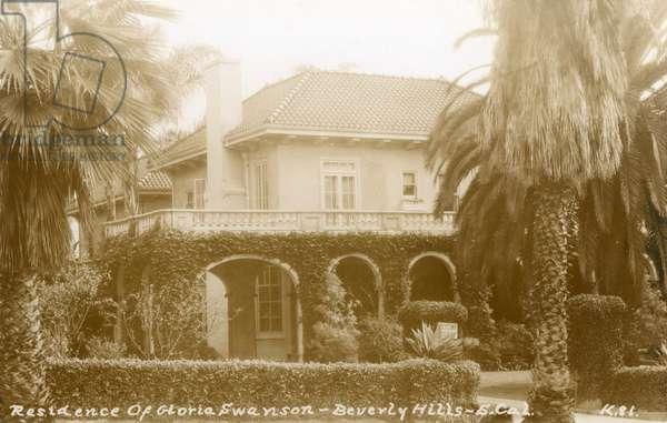 Residence of Gloria Swanson, Beverly Hills, USA