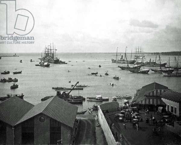 Harbour scene, India