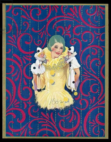 Chocolate box design, Pierrot woman