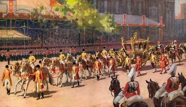 George VI Coronation Procession - the State Coach