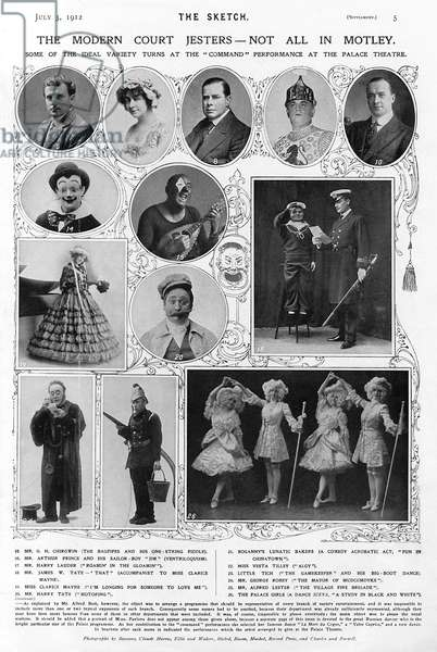 First Royal Variety Show cast, 1912