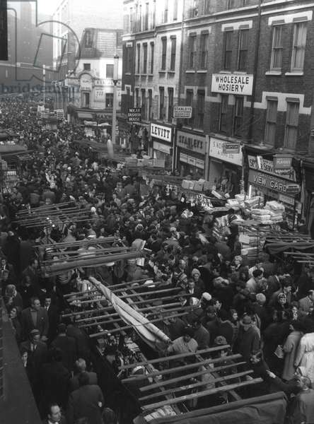 Crowds at a street market in London