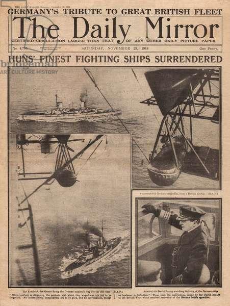 German Navy surrenders, WW1