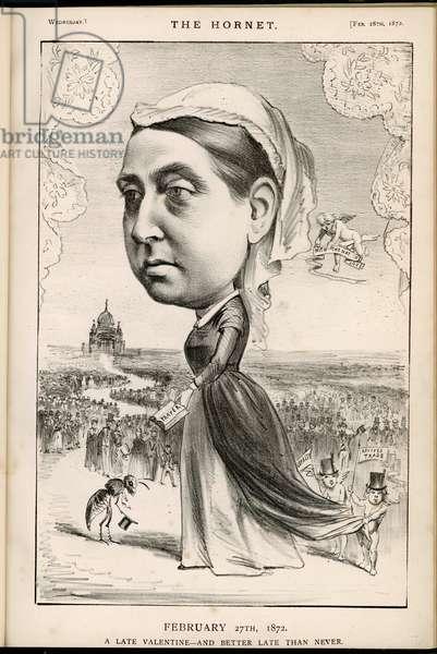 Cartoon of Queen Victoria of England