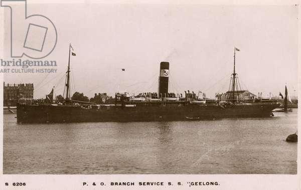 SS Geelong, P&O Line passenger steamer