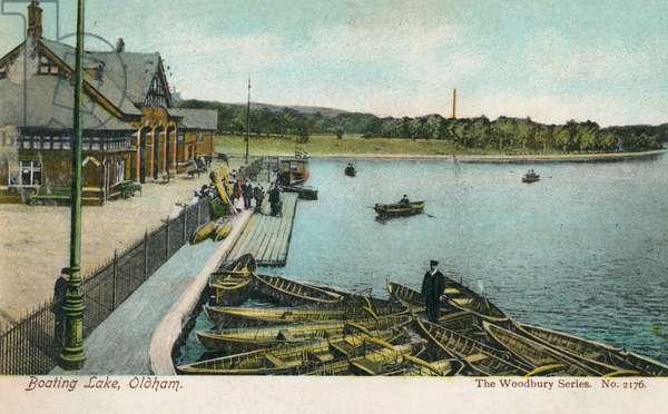 Boating Lake and Boathouse, Oldham, Lancashire