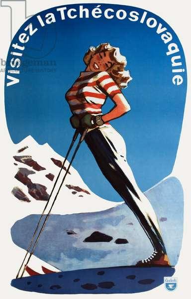 Female Skier - Czechoslovakia
