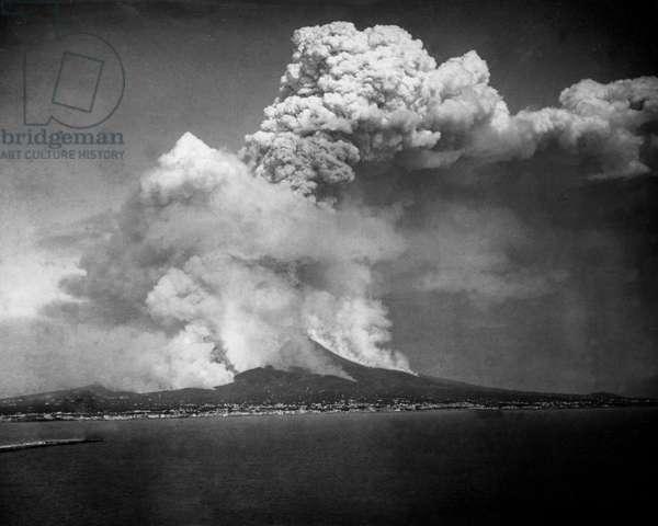 Eruption of Mount Vesuvius, Italy
