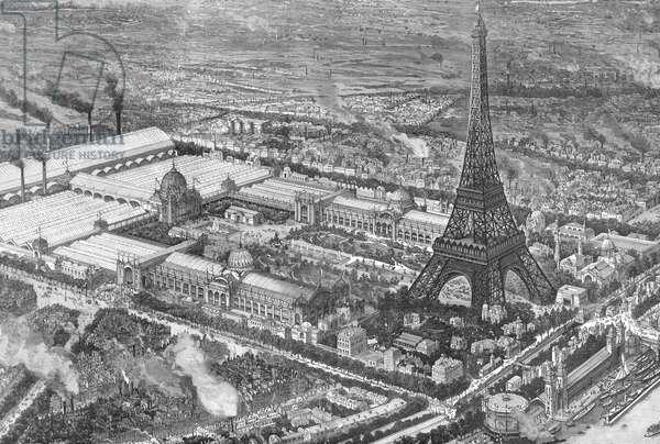 Paris Exhibition 1889 including Eiffel Tower