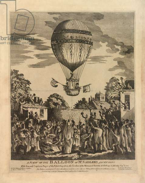 Balloon ascending with Sadler and Paget