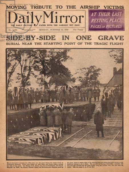 R101 airship disaster victims buried at Cardington