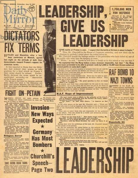 Churchill speech, WW2