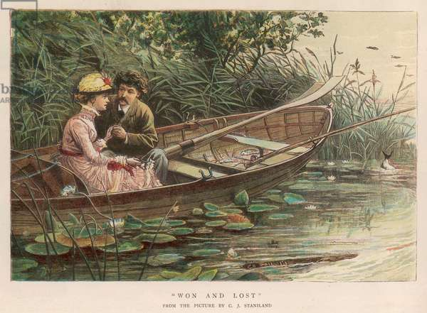 COUPLE IN BOAT 1882