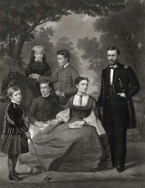 General Ulysses S. Grant and his family