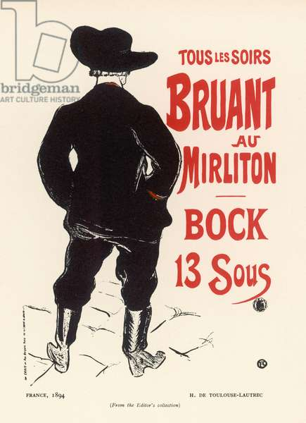 BRUANT BY LAUTREC