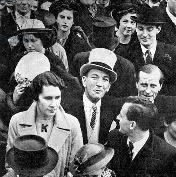 Noel Coward at the 1937 Coronation
