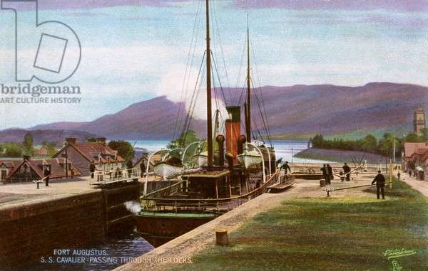 Passing through the locks at Fort Augustus, Scotland