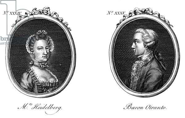 Mrs Heidelberg et Horace Walpole