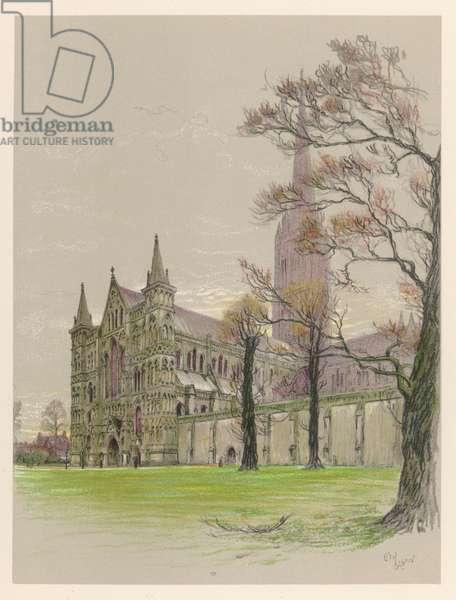 SALISBURY CATHEDRAL 1924