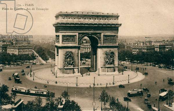 Arc de Triomphe and Place de l'Etoile, Paris, France