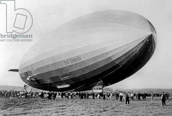 The airship Graf Zeppelin
