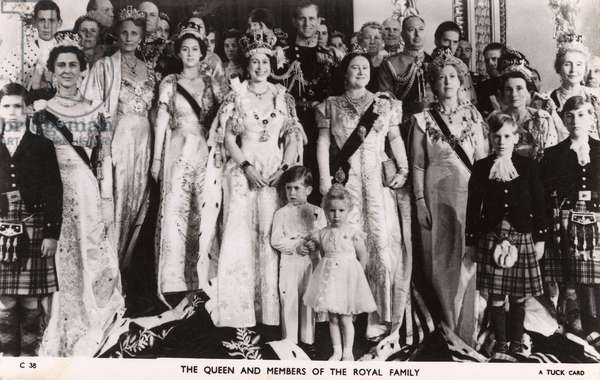 Queen Elizabeth II and members of the Royal Family