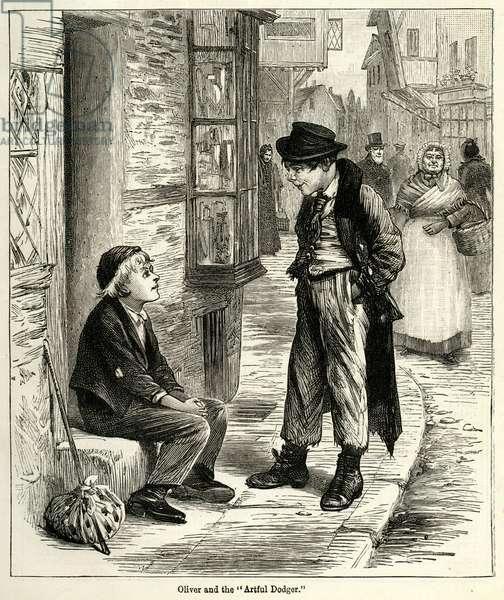 Oliver Twist meeting the Artful dodger
